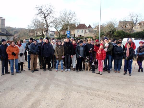 le groupe au départ de Loubressac