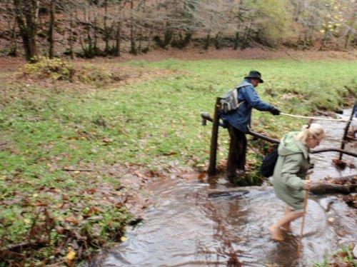 différentes techniques pour le passage du ruisseau